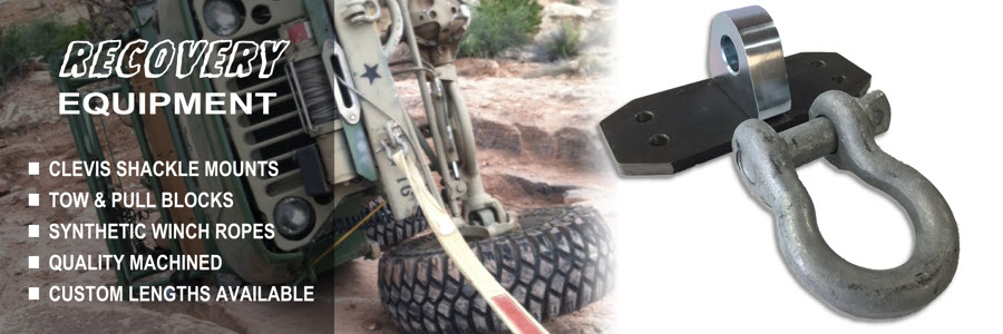 Clevis Shackle Mounts, Tow & Pull Blocks, And Synthetic Winch Ropes For Off Road Recovery